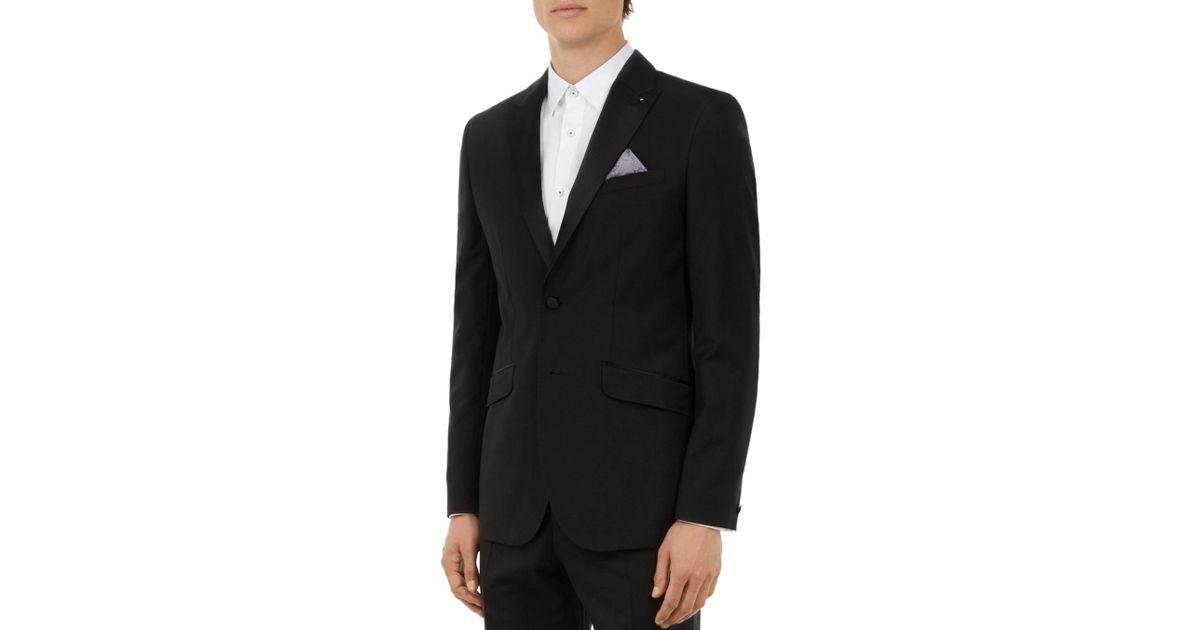 bdafb05f73a52b Lyst - Ted Baker Marliej Pashion Slim Fit Dinner Jacket in Black for Men