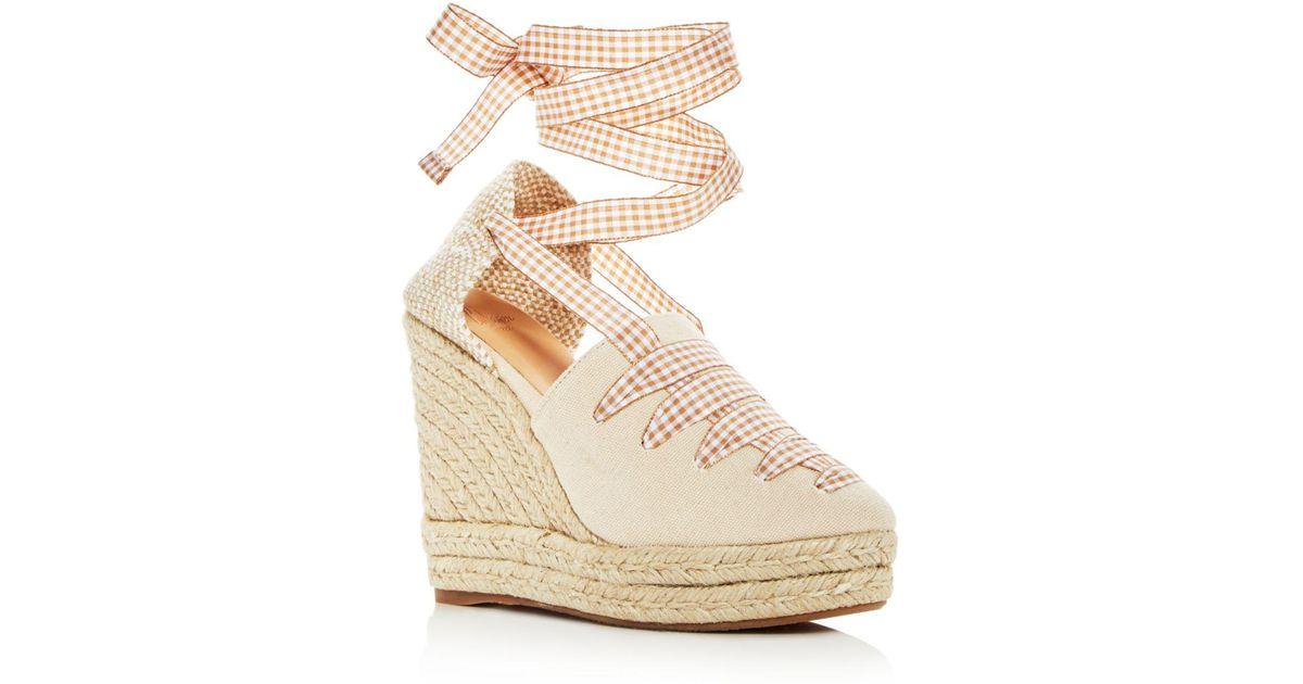 d52f6acdd72 Lyst Castaner Women S Lula Ankle Tie Platform Wedge Espadrille