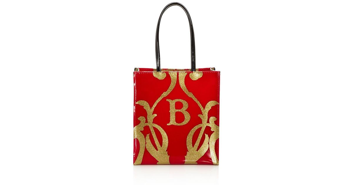 Lyst Bloomingdale S The Greatest Showman Glitter B Little Brown Bag In Red