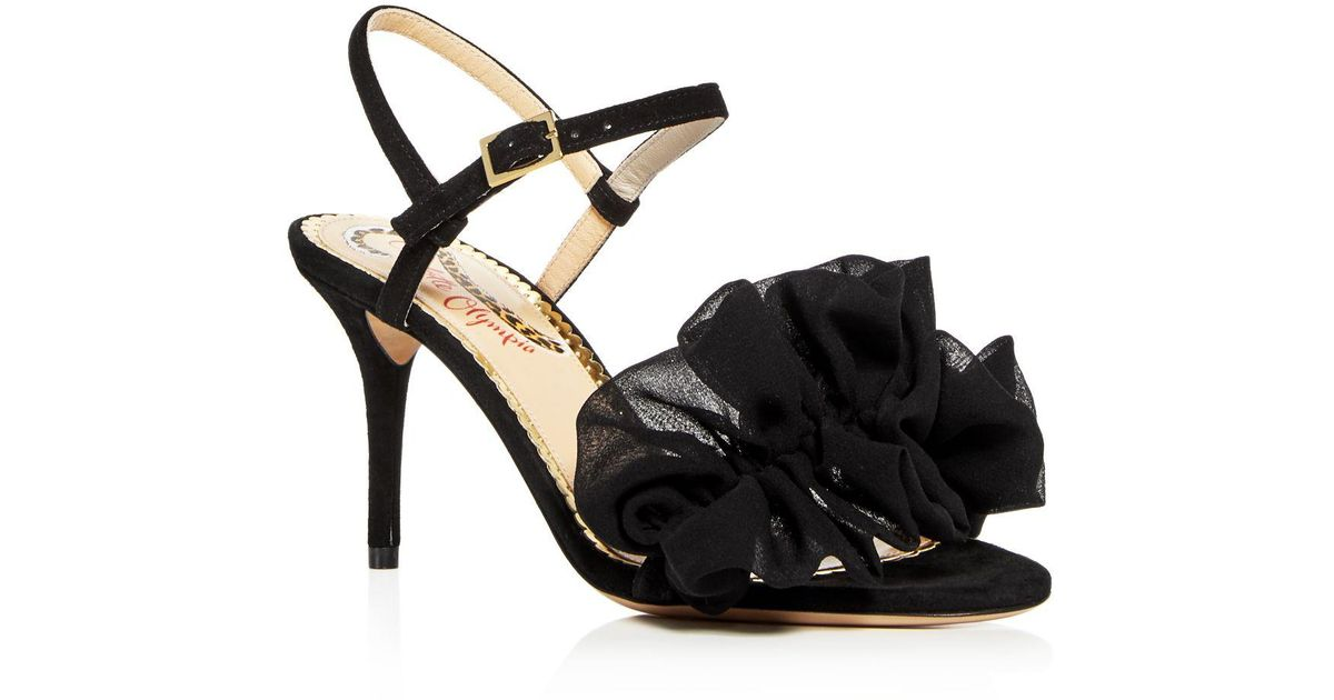 Charlotte Olympia Women's Reia Leather & Chiffon Slingback High-Heel Sandals OkzHRT
