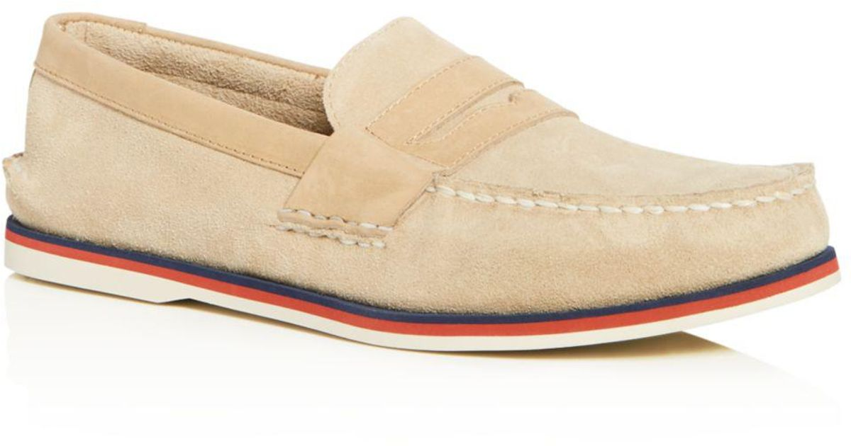 3aad9a17abb Lyst - Sperry Top-Sider Men s Authentic Original Nautical Suede Penny  Loafers for Men