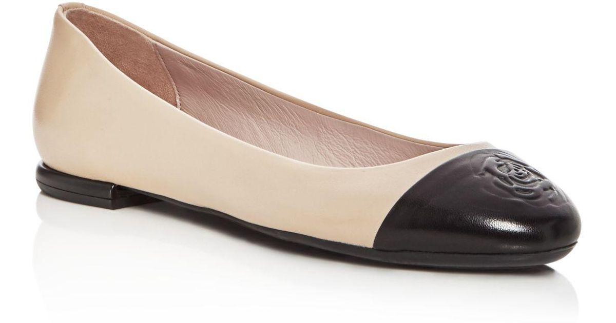 Taryn Rose Women's Rosa Leather Cap Toe Ballet Flats High-Quality Cheap Sale Shop For zkSDnX