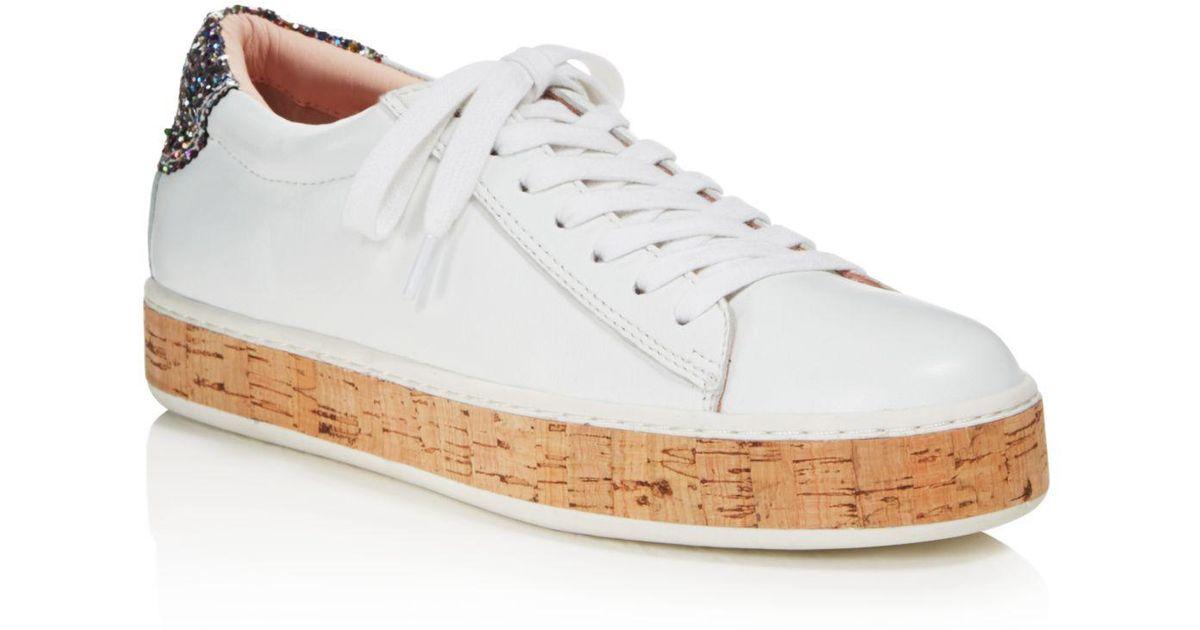 9fe6523049b0 Lyst - Kate Spade Women s Amy Platform Sneakers in White