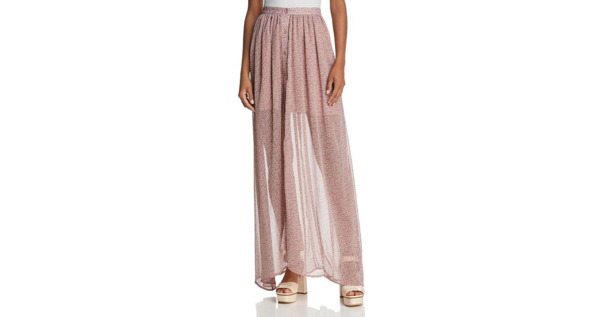 fed6b75328d French Connection Long Skirt in Pink - Save 51% - Lyst