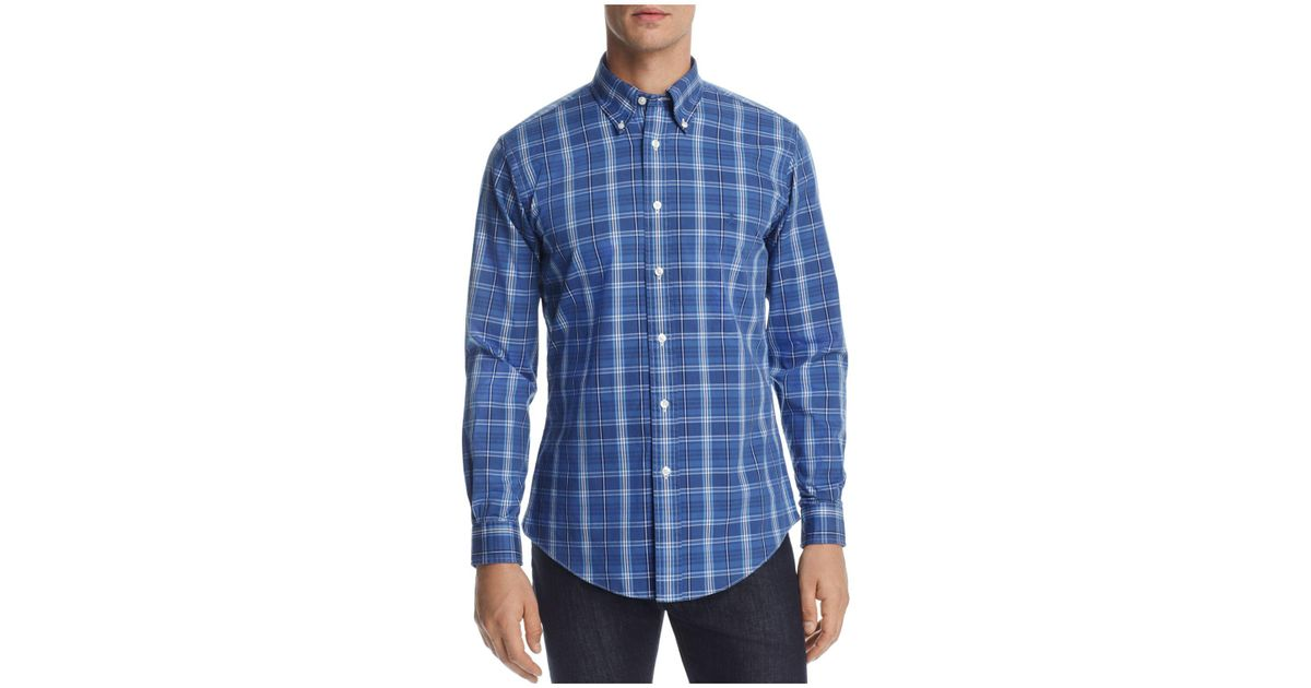 Brooks brothers pinpoint plaid slim fit button down shirt for Pinpoint button down dress shirt