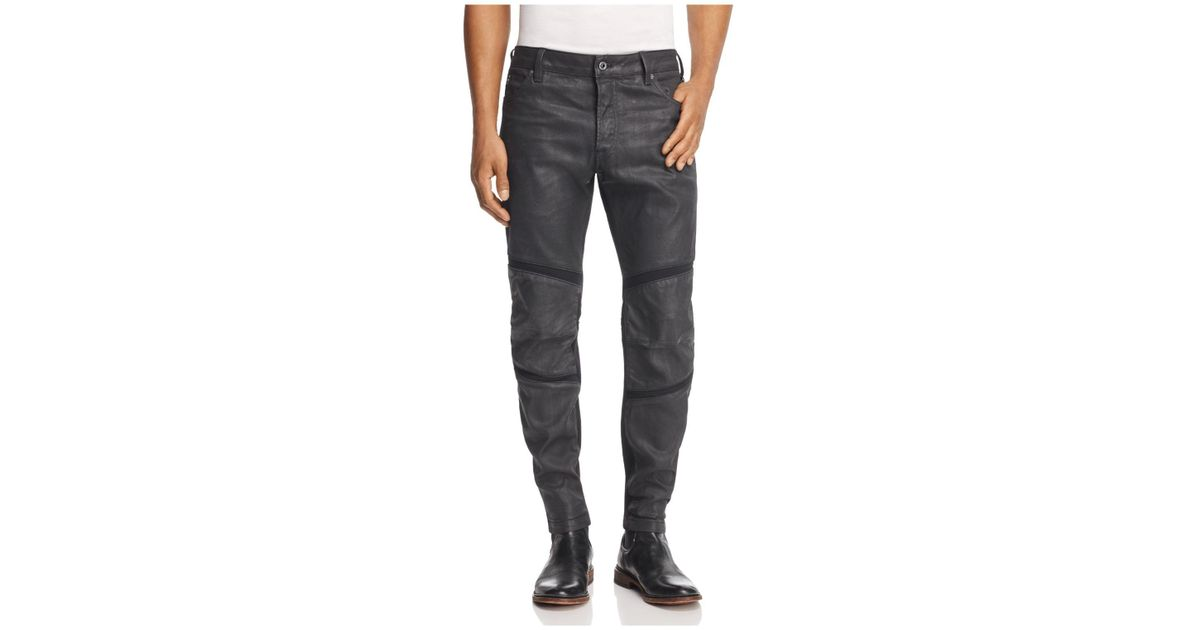 3be4f0a028d G-Star RAW Motac 3d Slim Fit Coated Jeans In Dark Grey in Gray for Men -  Lyst