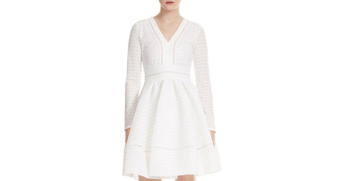 ec01f38acfda Maje Rossignol Lace Dress in White - Lyst
