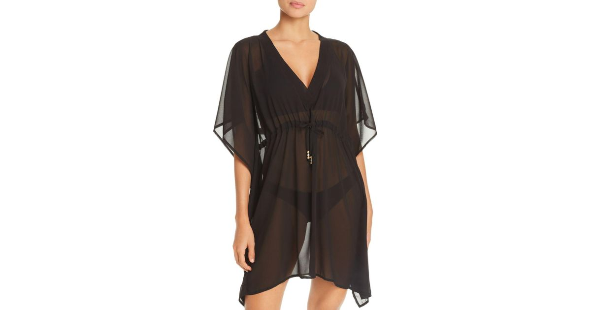 65313494002f5 Lyst - Echo Solid Classic Butterfly Swim Cover-up in Black