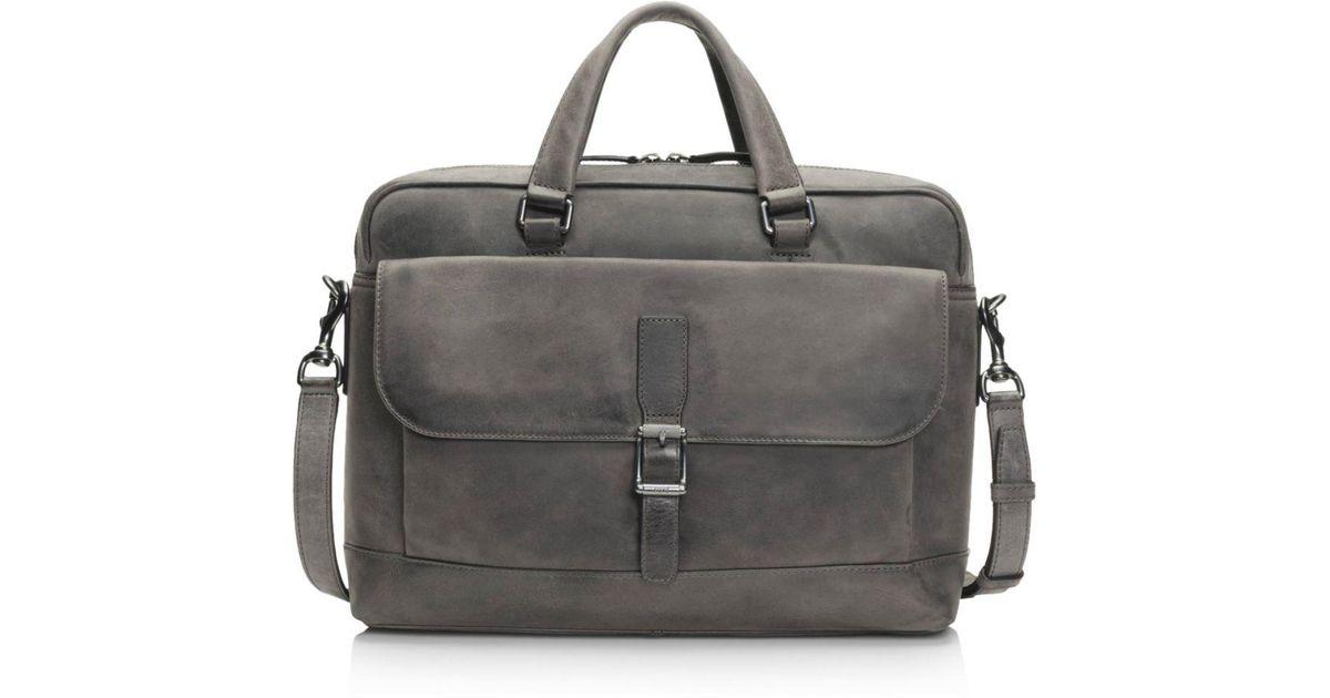 528cccb25 Frye Oliver 2 Handle Leather Bag in Black for Men - Lyst