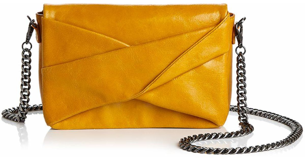 d89fa13a16 Halston Grace Small Bow Convertible Leather Crossbody - Save  54.166666666666664% - Lyst
