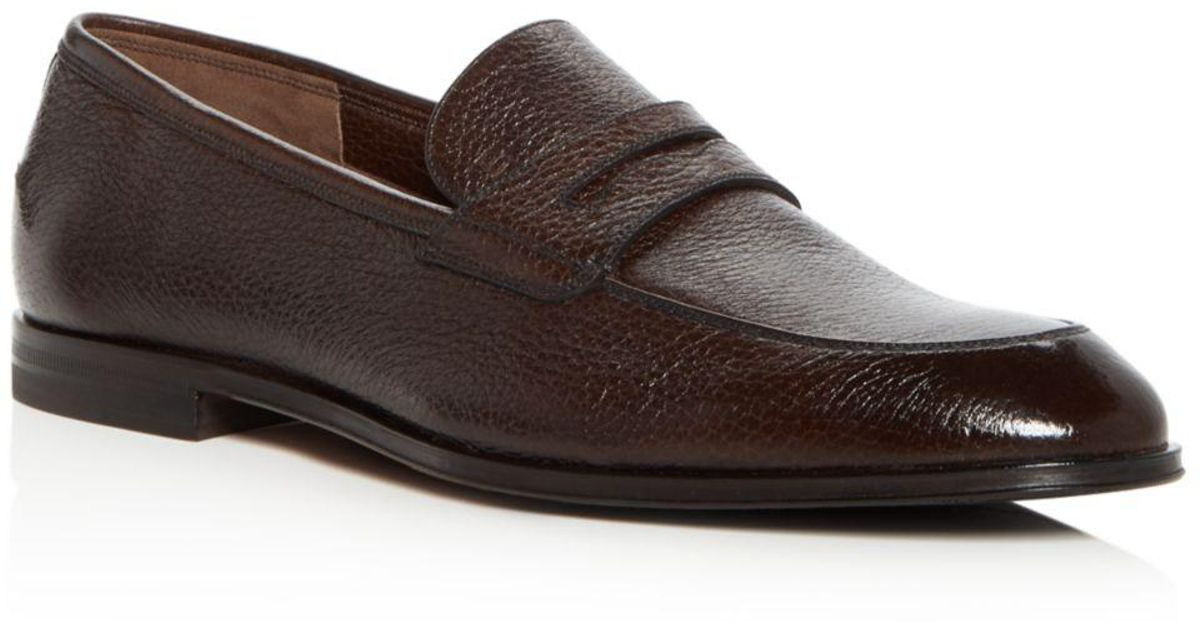 97929a67055 Lyst - Bally Men s Webb Leather Penny Loafers in Brown for Men