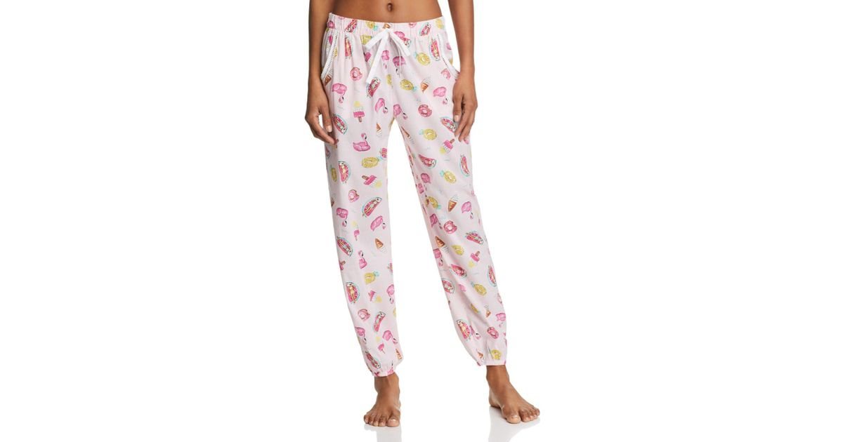 1e55178819c0 Lyst - Jane   Bleecker New York Printed Pj Pants in Pink