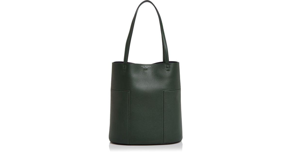 17870c33c456 Lyst - Tory Burch Block-t Medium Leather Tote