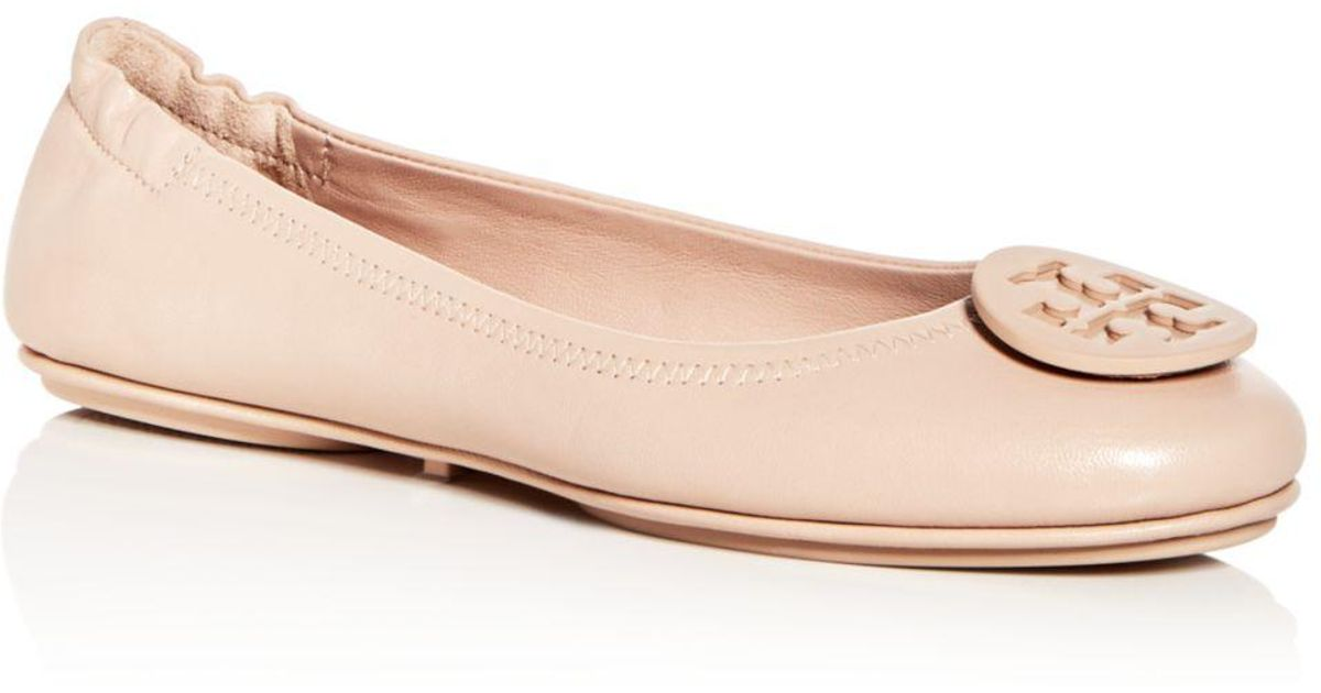 397471d2cbab Tory Burch Women s Minnie Leather Travel Ballet Flats - Lyst