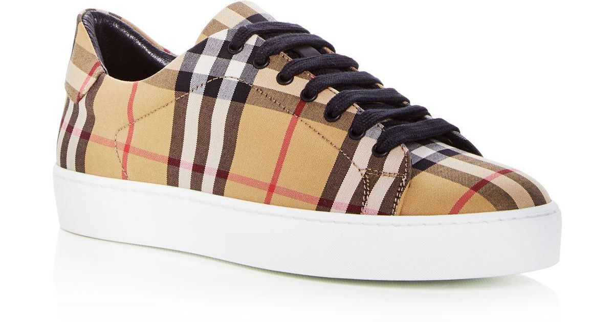 Westford Check Sneakers in Antique Yellow Cotton Tweed and Leather Burberry Sale Really Amazon Cheap Price Outlet For Nice Fake Sale Online n6RjdtZKXu