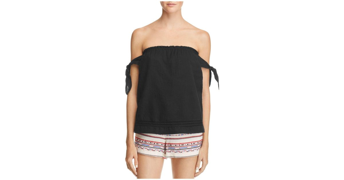 63f82926bc Lyst - PAIGE Lynley Top in Black