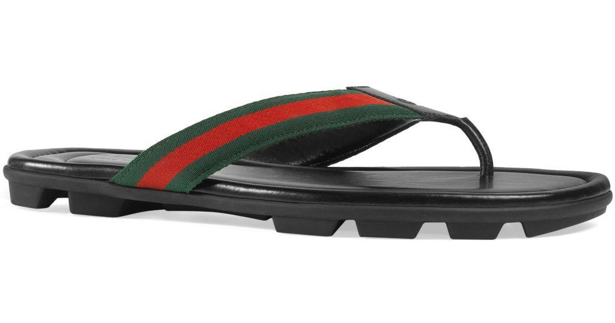 f93b1b3b78e Lyst - Gucci Men s Titan Thong Sandals in Black for Men