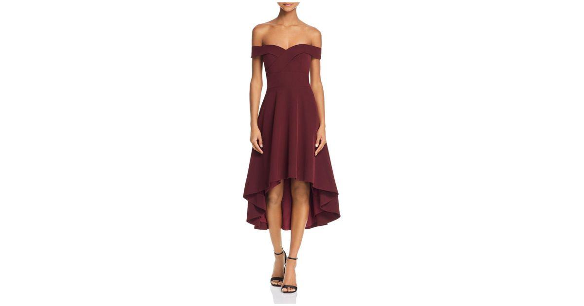 Lyst Aidan By Aidan Mattox Aidan Aidan Off The Shoulder Highlow Dress