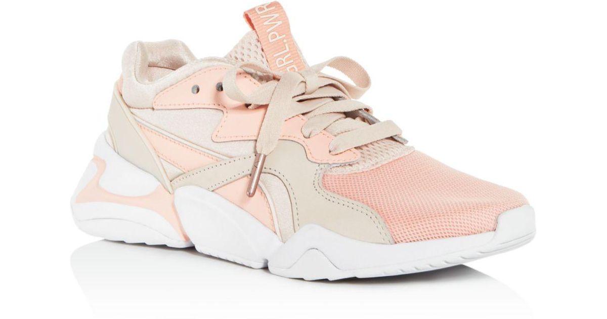 93c011e2238 Lyst - Puma Women s Nova Grl Pwr Low-top Sneakers in Pink