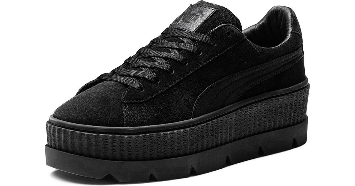 6fcbbc036d PUMA Men's Suede Cleated Creeper Platform Sneakers in Black for Men - Lyst