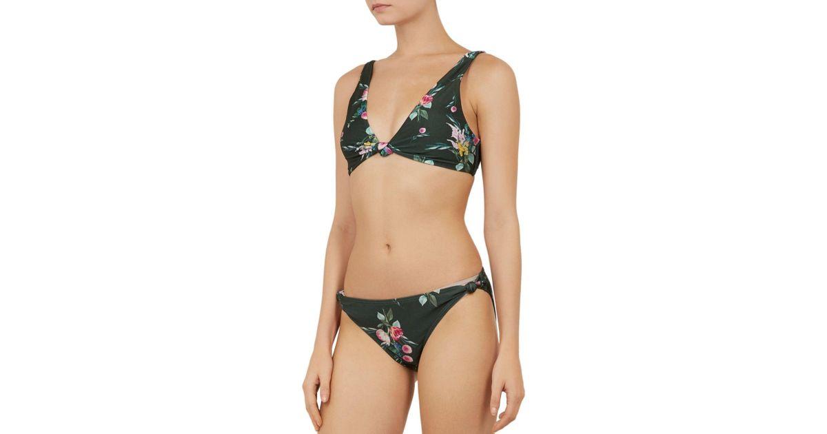 8708615c8260 Lyst - Ted Baker Tekeria Flourish Bikini Bottom in Green