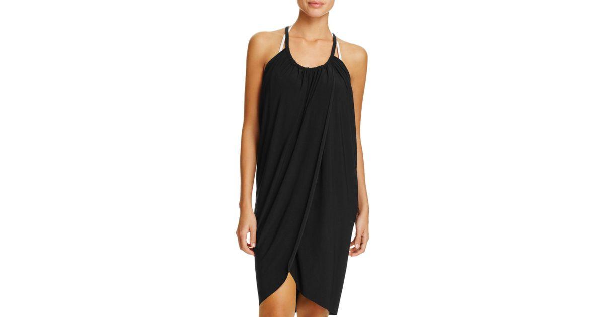 0dd645868a99d Lyst - Magicsuit Draped Dress Swim Cover-up in Black