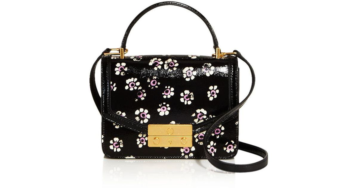 floral-print shoulder bag - Black Tory Burch Cheap Price From China For Nice For Sale Discount Order ZzzNs
