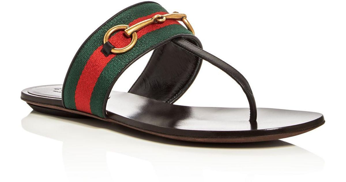 28f830c3715b Lyst - Gucci Querelle Thong Sandals in Black