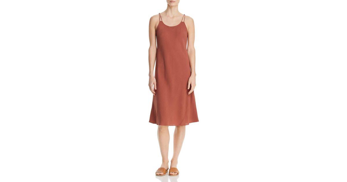 f004a36ac8 Lyst - Eileen Fisher Silk Slip Dress