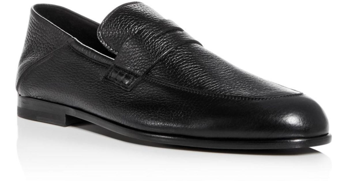 23d4cd96715 Lyst - Harry s Of London Men s Edward Leather Apron Toe Penny Loafers in Black  for Men