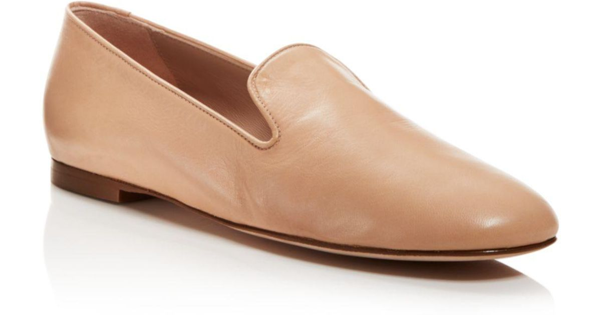 b18974c6572 Stuart Weitzman Women s Myguy Leather Smoking Slippers - Lyst