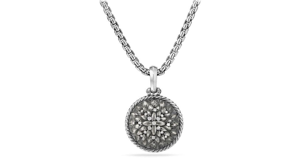 David Yurman Maritime Compass black diamond amulet - Metallic y6sI8u9GDr