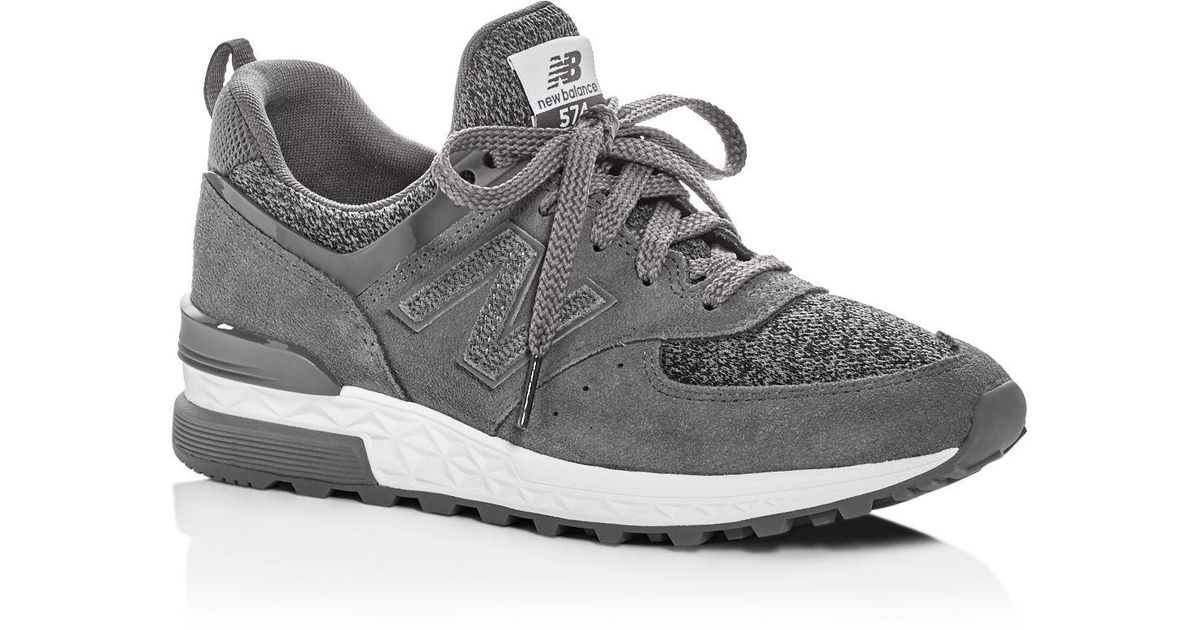 best service ff1f7 83846 Lyst - New Balance Women s 574 Lace Up Sneakers in Gray