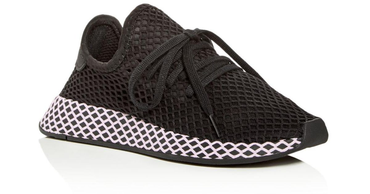 c383e6d0e Lyst - adidas Women s Deerupt Net Lace Up Sneakers in Black