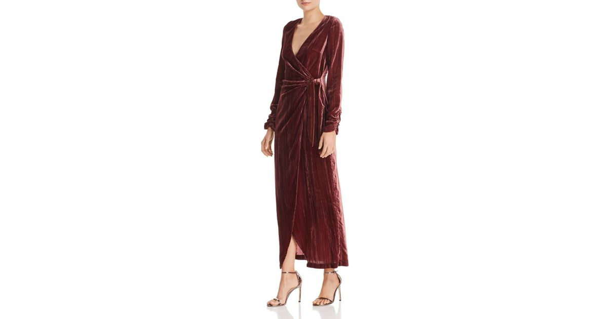 c2f75033724 Lyst - Donna Mizani Austen Velvet Wrap Gown in Red