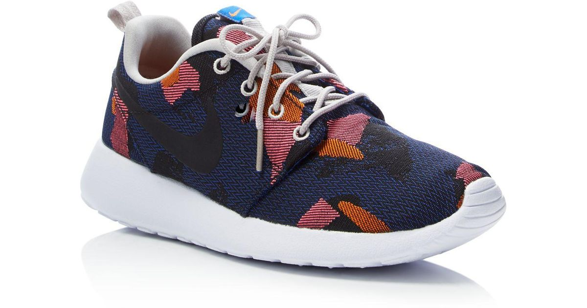 competitive price 242ad 5ee92 Lyst - Nike Women s Roshe One Jacquard Camouflage Lace Up Sneakers in Blue  for Men