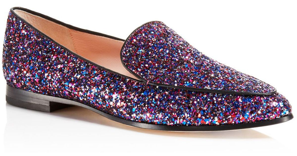 539f6cb8897 Kate Spade New York Calliope Glitter Loafers in Purple - Lyst