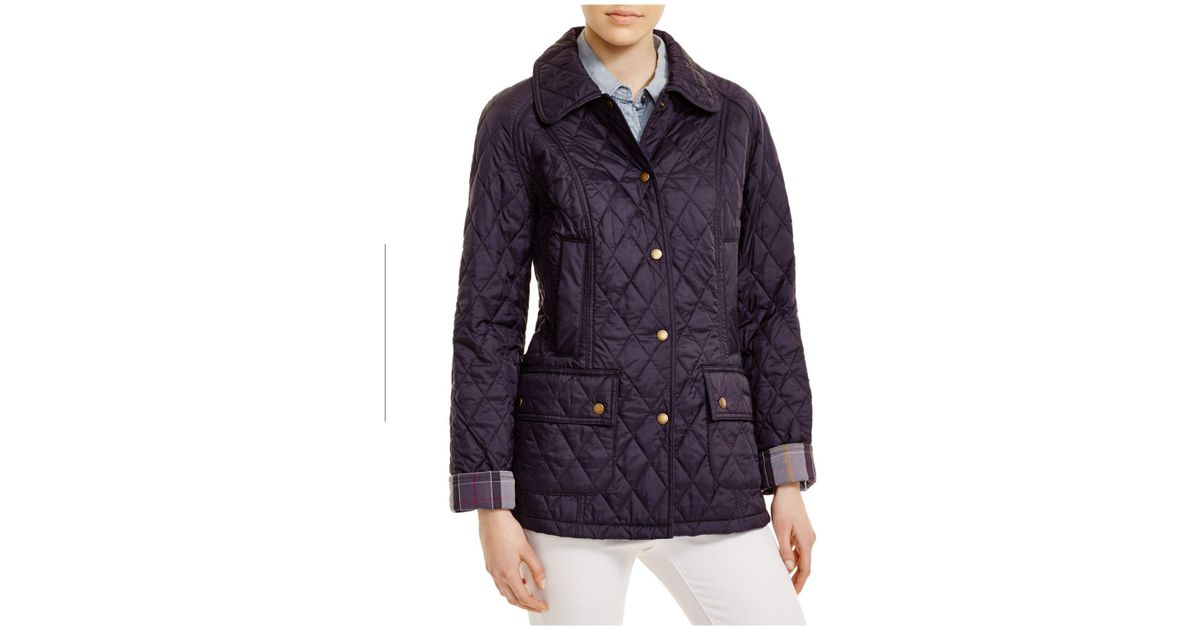 Lyst Barbour Summer Beadnell Quilted Jacket In Blue