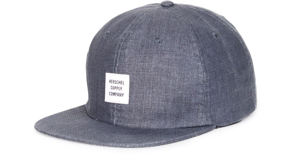 best loved be937 71bf8 Herschel Supply Co. Albert Selvedge Denim Cap in Blue for Men - Lyst