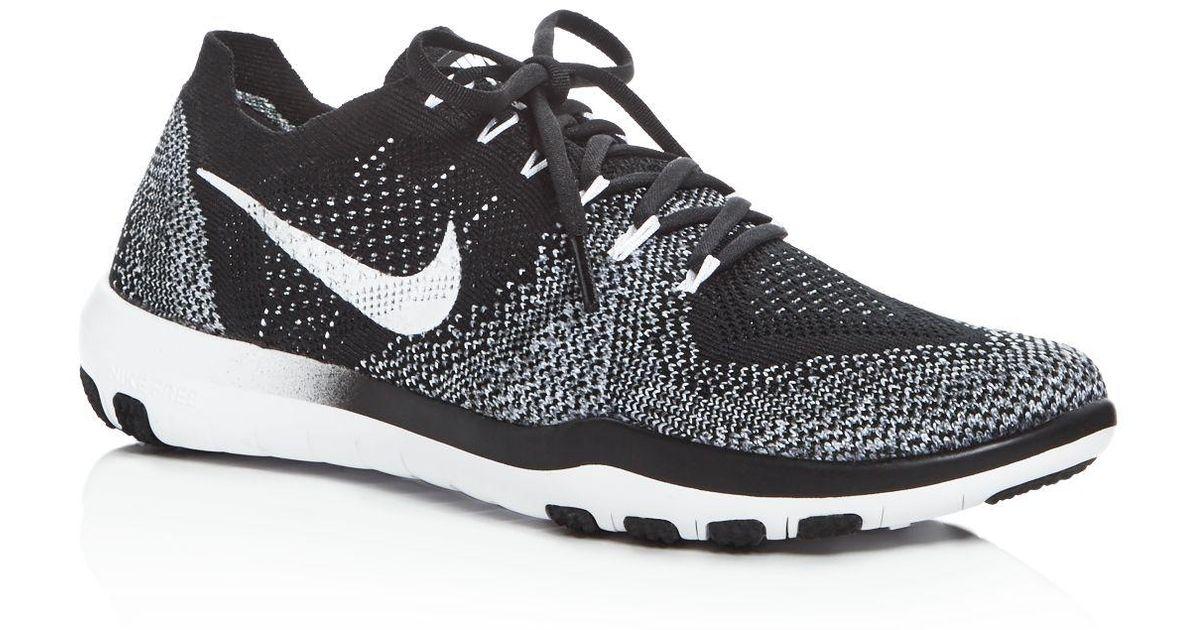 267973fc03b3 Lyst - Nike Women s Free Focus Flyknit 2 Lace Up Sneakers in Black