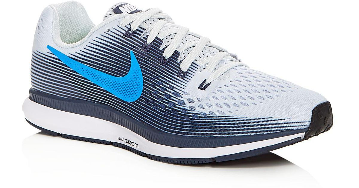 6dc702dc2a2d Lyst - Nike Men s Air Zoom Pegasus 34 Lace Up Sneakers in Gray for Men