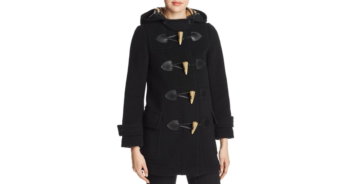 Burberry Black Merton Duffel Coat