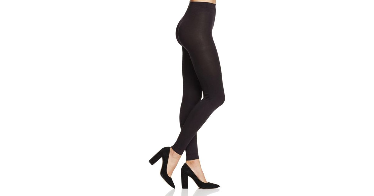 02ed56f1215a7 Hue Style Tech Blackout Footless Tights in Black - Lyst