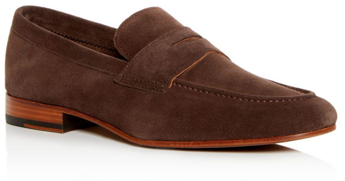 5af45128aeb Lyst - Gordon Rush Men s Wilfred Suede Apron Toe Penny Loafers in Brown for  Men