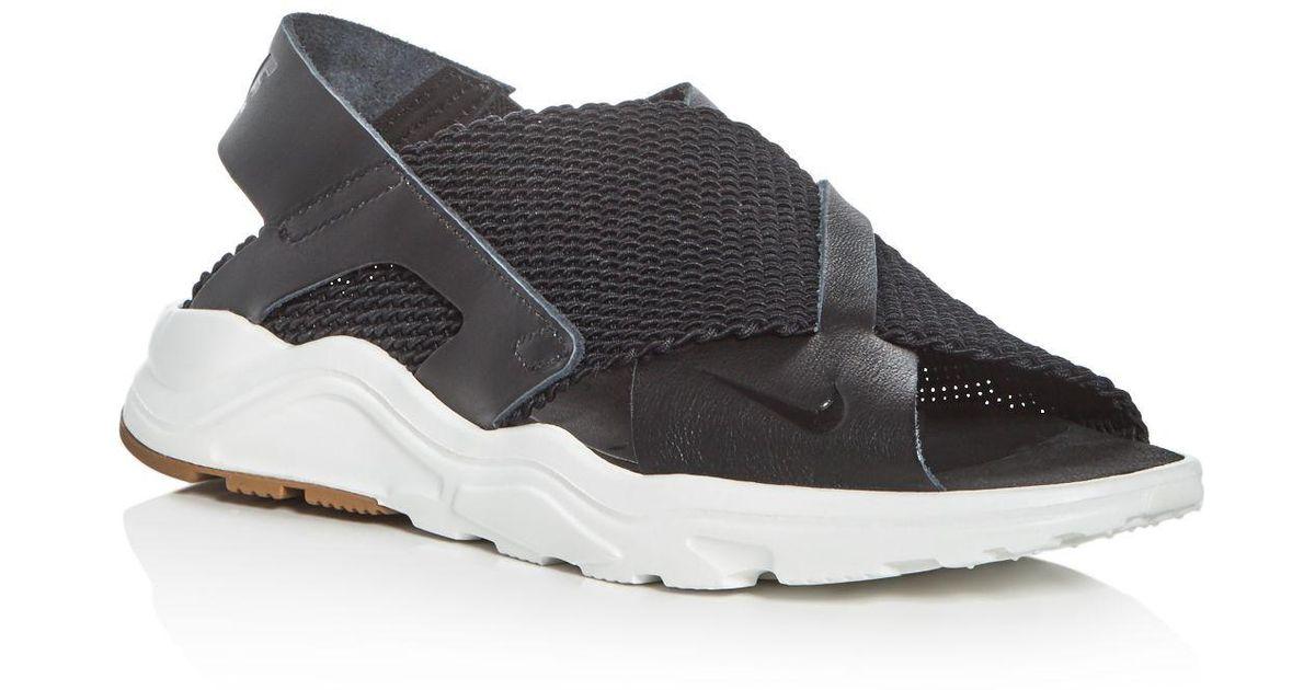 928c1fbfb5c Nike Women's Air Huarache Ultra Sandals in Black - Lyst