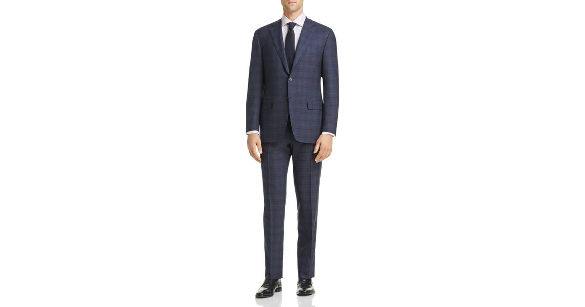 374693f54b1 Canali Tonal Plaid Siena Classic Fit Suit in Blue for Men - Lyst