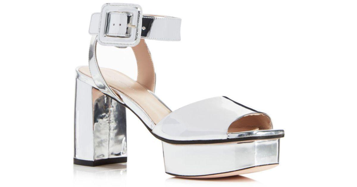 Stuart Weitzman Women's Newdeal Leather Platform Ankle Strap Sandals Discount Low Cost F9Lnm9