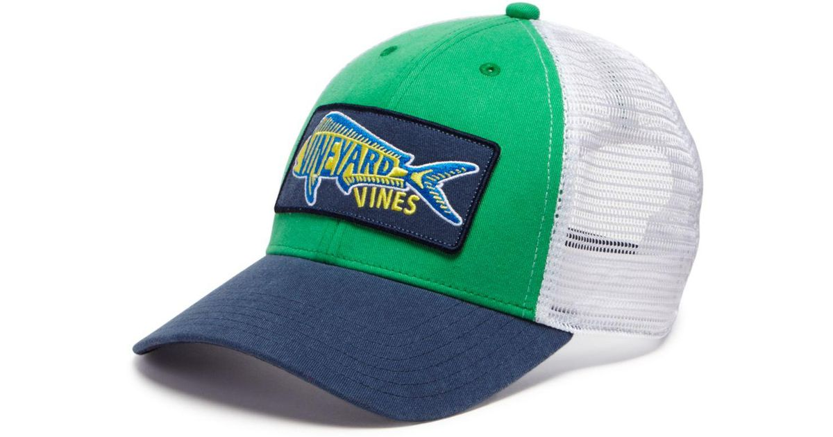 33ab291f65248 Vineyard Vines Mahi Trucker Hat in Green for Men - Lyst