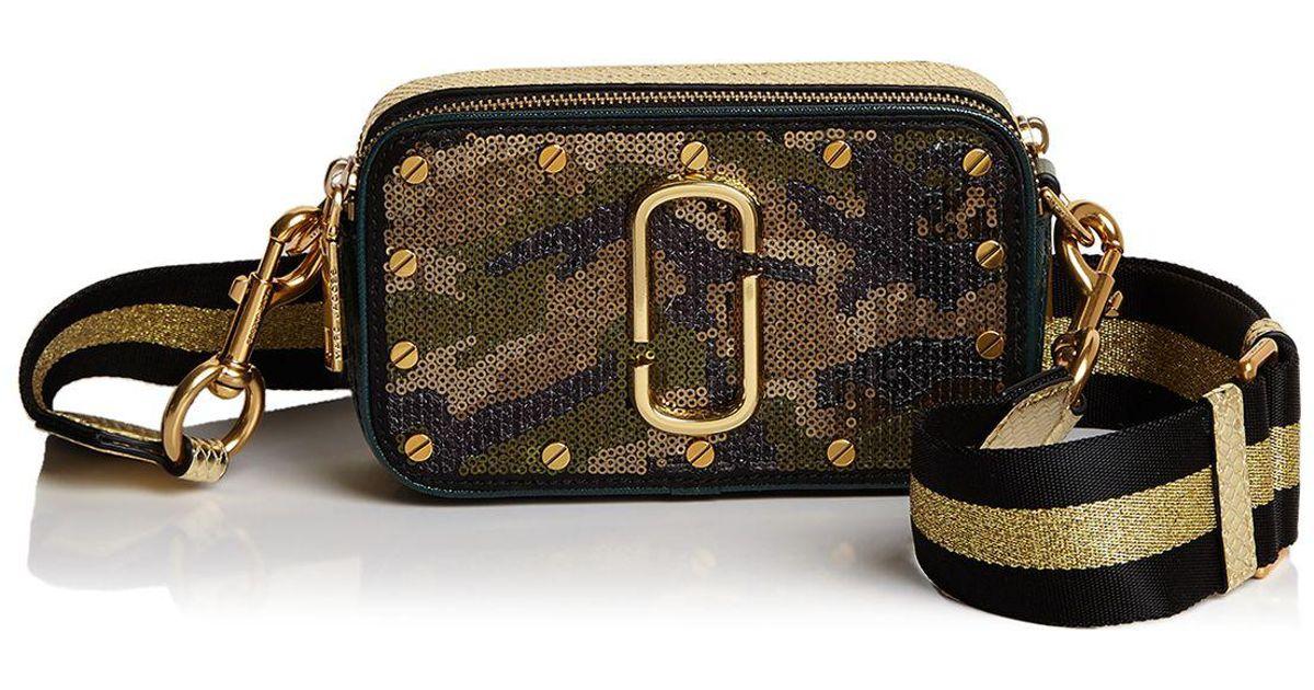 61989d30e2c5 Lyst - Marc Jacobs Snapshot Sequin Camo Camera Bag