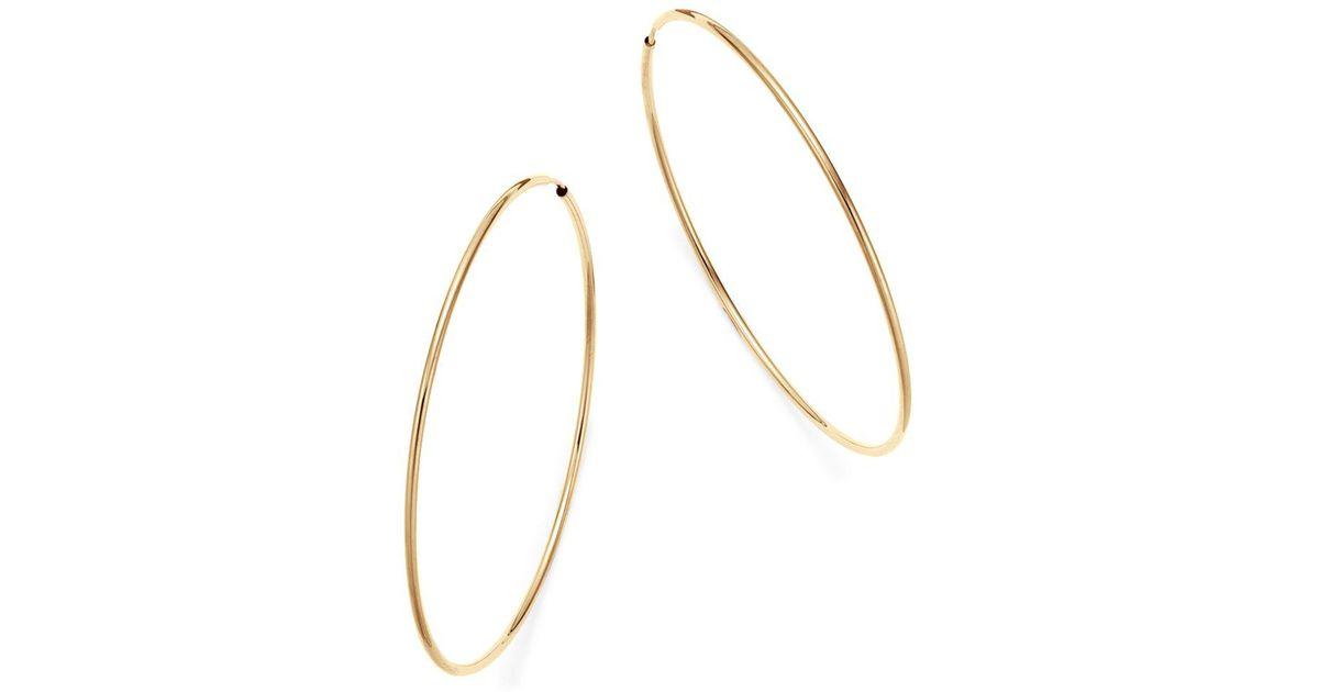 Lyst Bloomingdale S 14k Yellow Gold Large Endless Hoop Earrings In Metallic